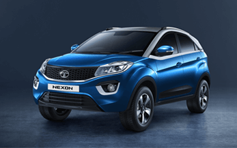 TATA Nexon Car in Blue Variant