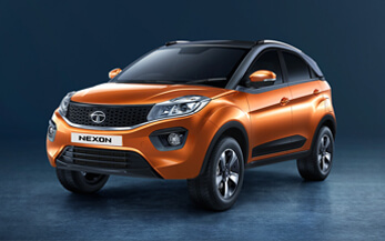 TATA Nexon Orange White Colour Variant